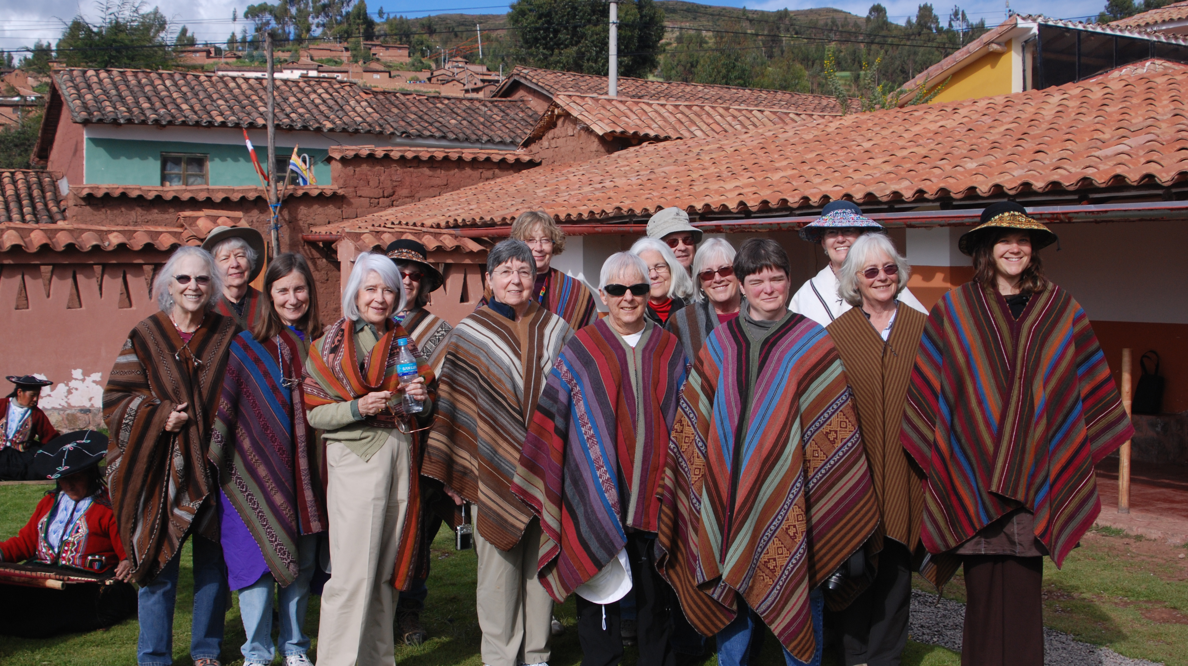 Visitors-with-ponchos