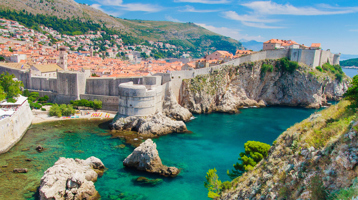 Dubrovnik-in-Croatia,-Scenic-view-on-city-walls-iStock-Bertl123-www.istockphoto