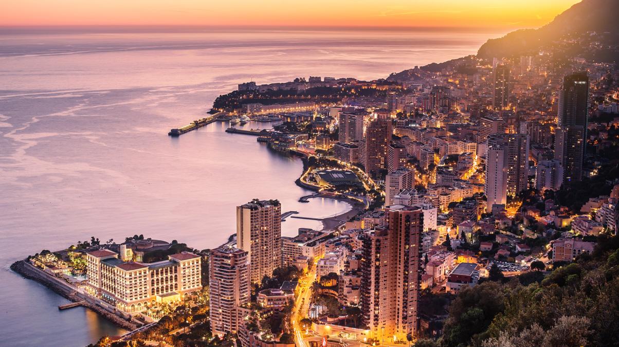 Monaco-city-illuminated-aerial-view-iStock-grutfrut-www.istockphoto