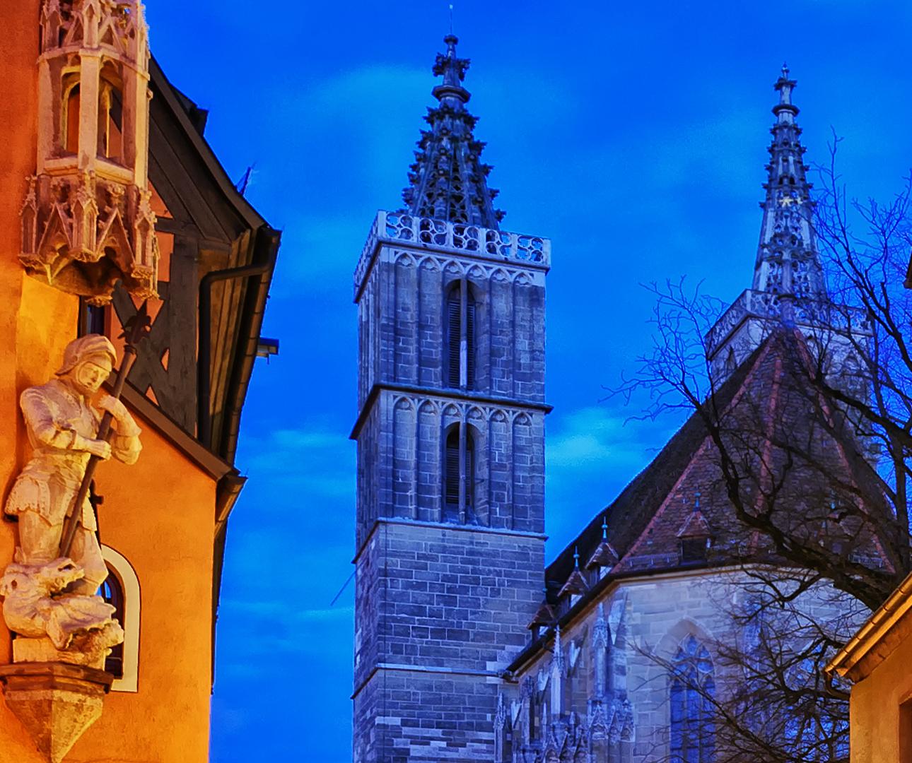 Christmas decoration lights, Rothenburg ob der Tauber, Germany