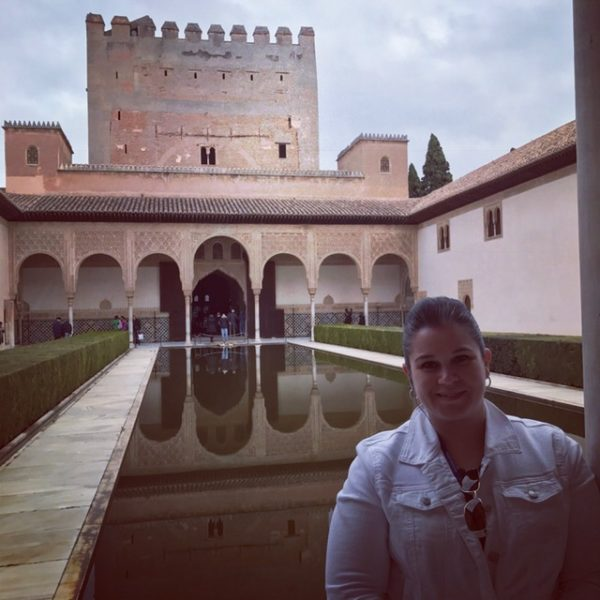 Wilmarie visiting the Alhambra