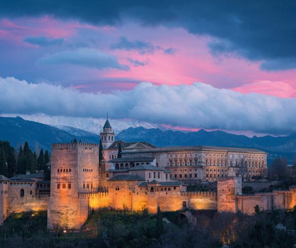 Alhambra, Granada, at dusk