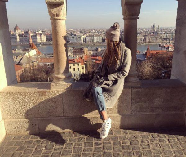 Meg in Budapest