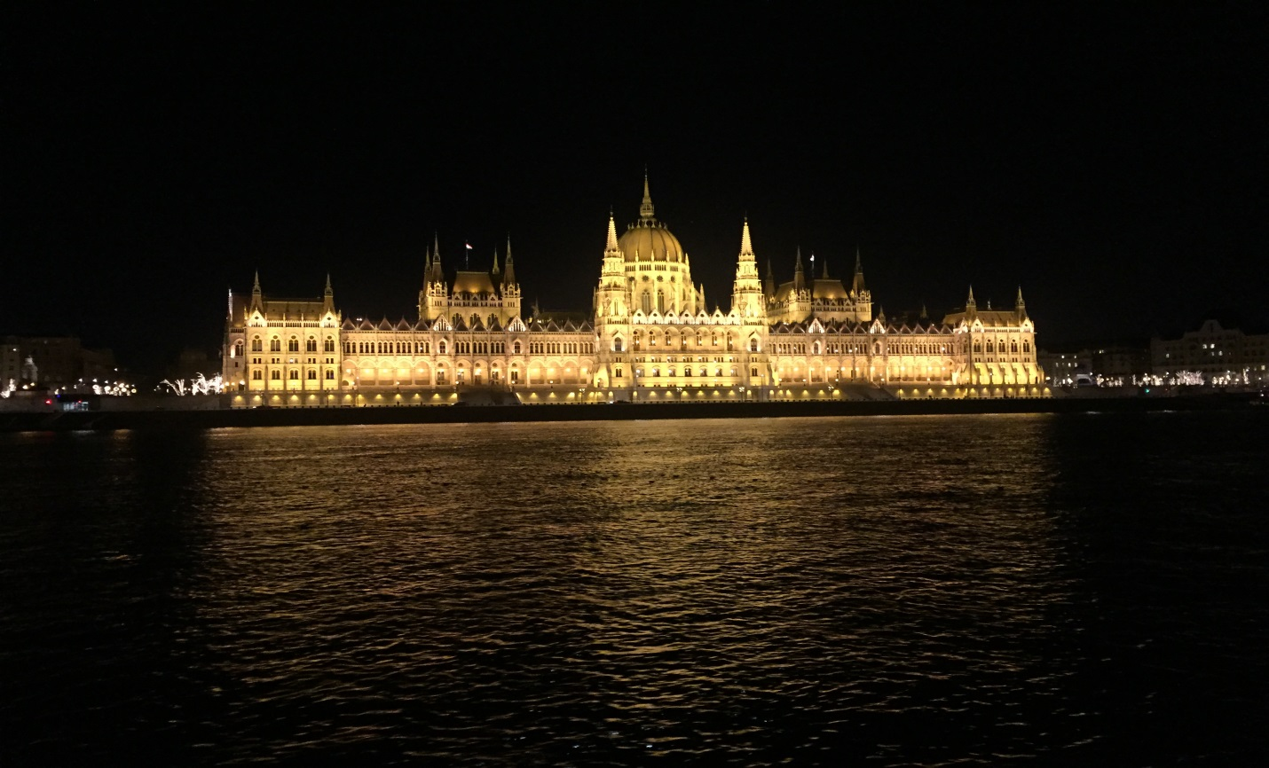 View along Danube evening River Cruise