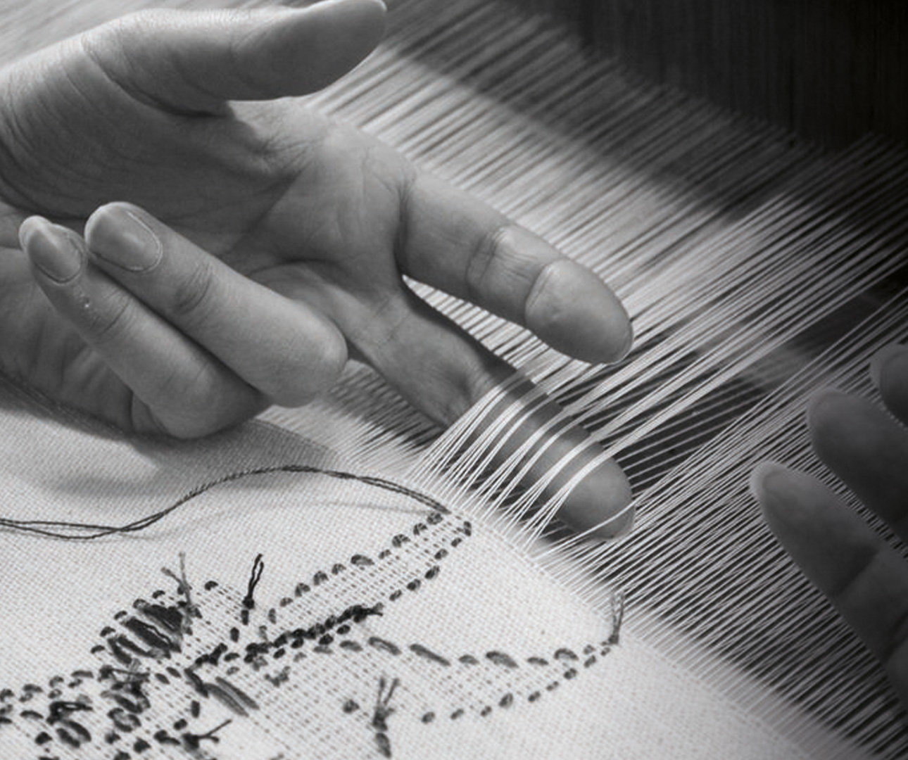 Hand weaving in Italy