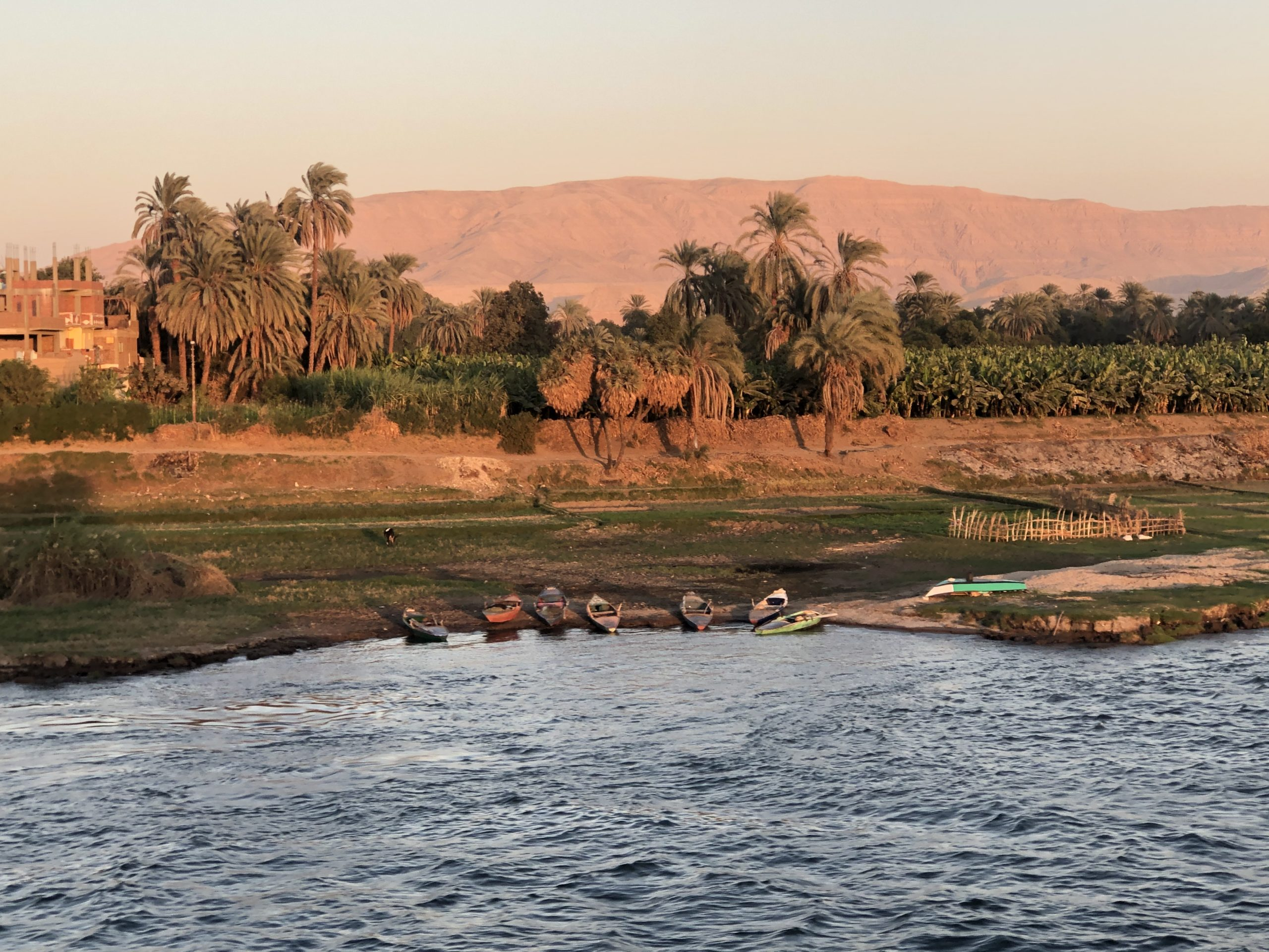 Sunset on the Nile River, Egypt