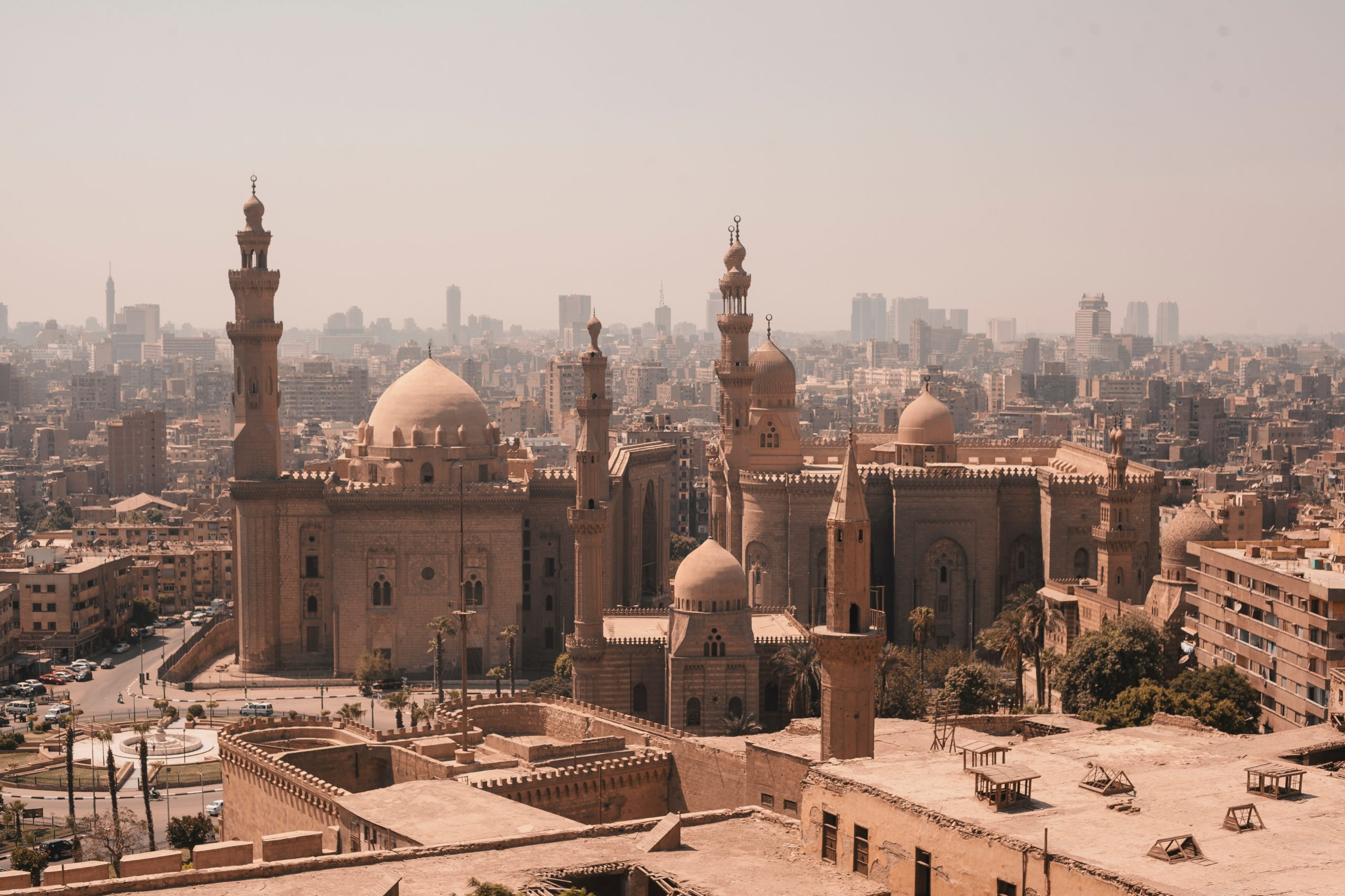 Aerial view of Cairo, Egypt