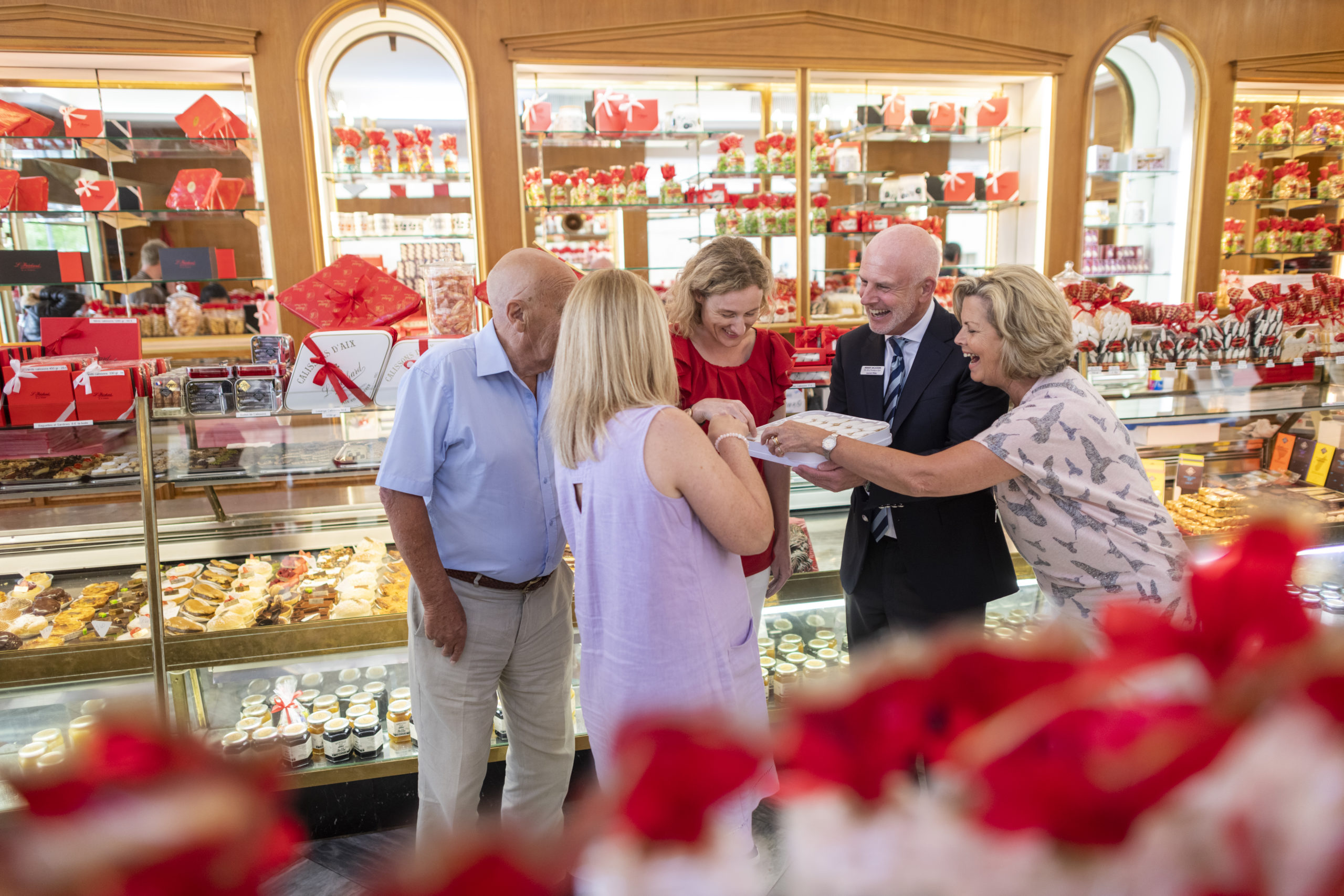 Insight Vacations' guests at the patisserie Bechard